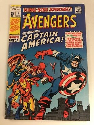 Marvel Comics Group The Avengers King Size Special # 3 Sept . .25 Cent Cover