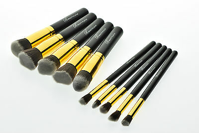 10pcs Kabuki Style Professional Make up Brush Set Foundation Face Blusher BG10