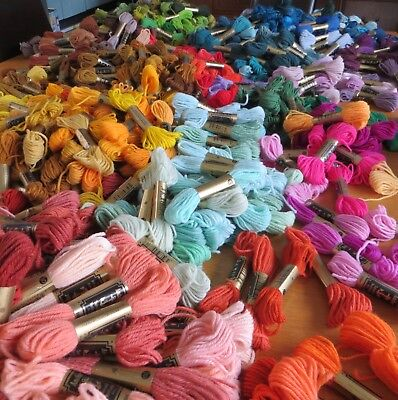 100 x *NEW* Anchor Tapestry Wool 10m Skeins Mixed Colours Job Lot