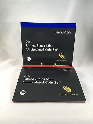 2011 P D United States Mint Uncirculated Coin Set 28 Coins with COA