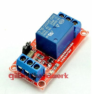 24V 1-Channel Relay Module With Optocoupler High Low Level Triger