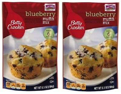 Betty Crocker Blueberry Muffin Mix 2 Bag Pack