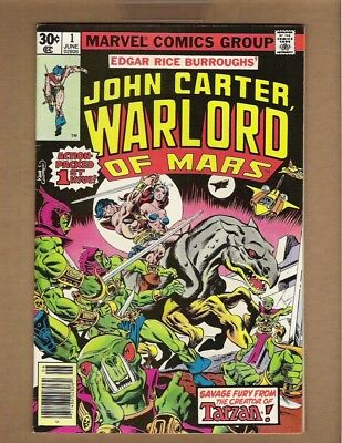 JOHN CARTER WARLORD OF MARS #1 (VF+) 1977 Marvel Gil Kane cover & art ERB n2060