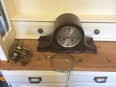 Vintage German Westminster Clock Case And Movement Spares Or Repair