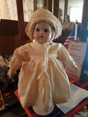 "1930 - 1936 Madame Alexander Composition Doll 12"" Baby Little Genius!!"
