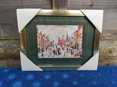 06eac898dba L S LOWRY A Village Square Print Framed Picture