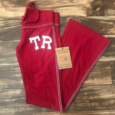 NEW! True Religion $148 TR Tiger Marissa Flare Pants in High Red Size: M
