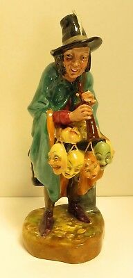 Vintage Royal Doulton Hand Painted Porcelain Character Figures - The Mask Seller