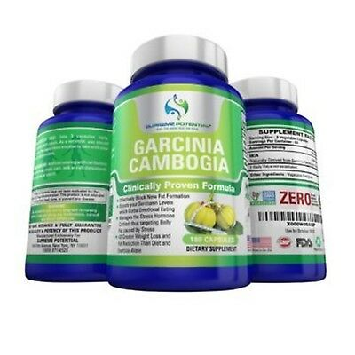 Appetite Suppressant - Garcinia Cambogia By SUPREME POTENTIAL - 180 Capsules