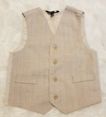 George Boy's Ivory Formal Vest ▪Size 5T ▪FREE Shipping!