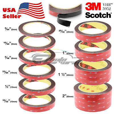 ***35 FEET*** 3M VHB #5952 Double-Sided Mounting Tape Clear Transparent Car Auto