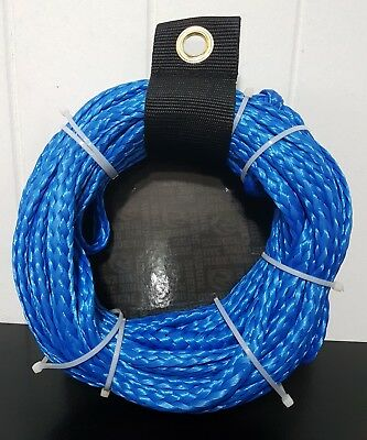 Riders 1 Person Water Ski Biscuit Tow Tube Rope - BLUE - 1600LB