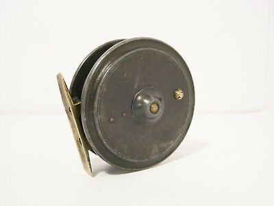 """Vintage Antique Alloy Dingley 3"""" Fly Fishing Reel - Retailed for Walker Bampton"""