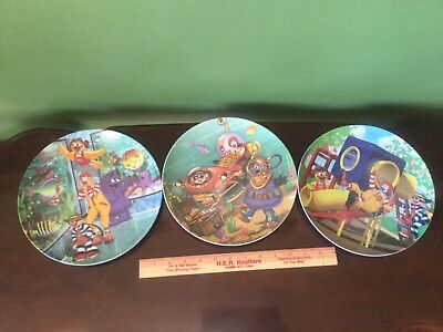 mcdonald's plates set of 3 2001 and 2004