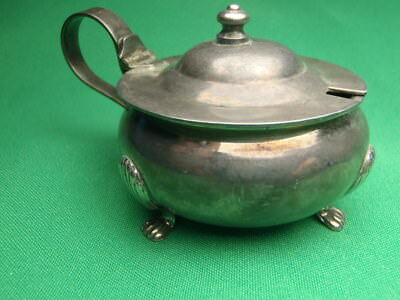 Estate Sterling Silver Fancy Leg Mustard Pot 48.9 Grams C223