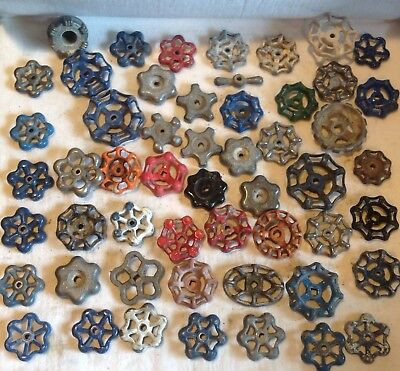 Lot of 53 Vintage Valve Handles Water Faucet Knobs STEAMPUNK Industrial FH 7 53