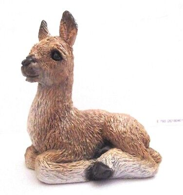 Stone Critters Small LLAMA Hand Painted Collectible Lama Figurine