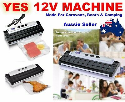 12V Vacuum Sealing Machine Sealer Food Storage Packaging + 40 Free Bags