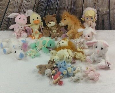 Plush Lot Retired Tender Tails Precious Moments 23 Stuffed Animal Toys Enesco