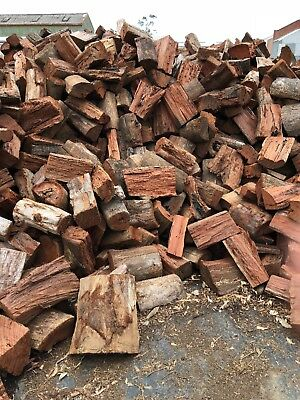 1 mt firewood red gum, cut & split, quality, ready to burn, hot wood, overnight