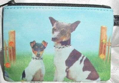 Rat Terrier Microfiber Zippered Coin Purse