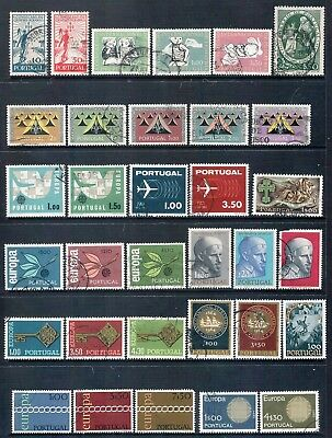 PORTUGAL - Mixed lot of 33 Stamps, Sets or Part Sets, most Good - Fine Used, LH