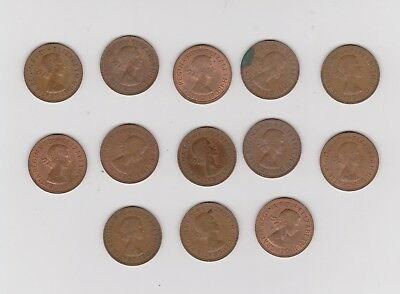 United Kingdom Britain 13 Half Pennies Half Penny