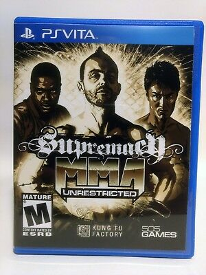 Supremacy MMA Unrestricted -PS Vita- Replacement Case *No Game*