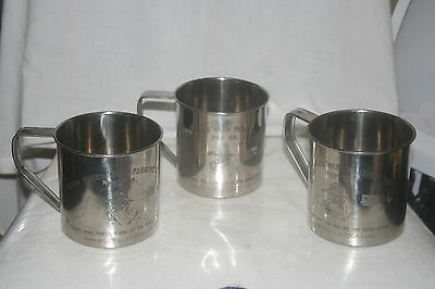 Wild Bill's Olde Fashion Soda 3 tin cups