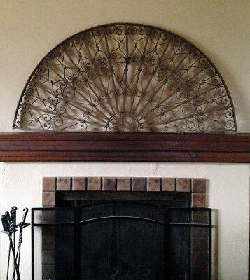 Antique Salvage Egyptian Architectural Grille For Entryway
