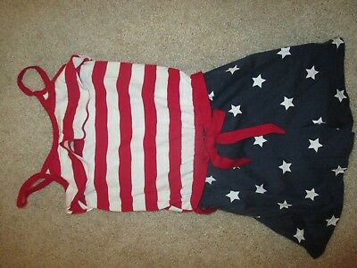 NWT Girls Red White and Blue Shorts Romper Size 5/6 The Children's Place