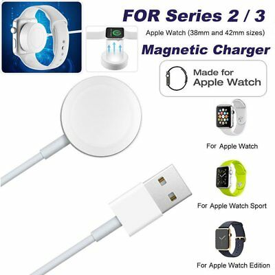 2M Magnetic Charging Cable Dock Charger For 38/42mm Apple Watch iWatch 2 3