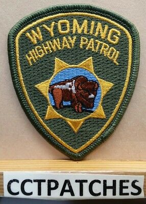 Wyoming Highway Patrol (Small) Police Shoulder Patch Wy