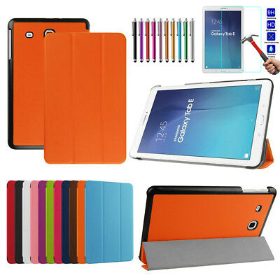 """Leather Tablet Stand Flip Cover Case For Samsung Galaxy Tab E 9.6"""" SM-T560 /T561"""