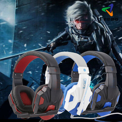 Gaming Headset Stereo Surround Headphone 3.5mm Wired With Mic For PC
