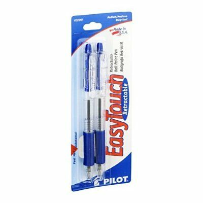 Pilot 32261 Blue Easy Touch�� Retractable Ball Point Pen 2 Count