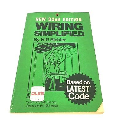 wiring simplified by h p richter vintage electrical book 1953 codes rh picclick com Home Electrical Wiring Simplified Home Wiring Basics with Illustrations