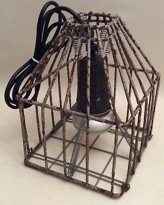 Vintage Caged Boat Light Fitting