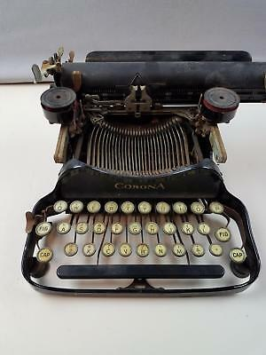 Antique Vintage L.C. Smith & Corona No 3 | 4 Folding Portable Typewriter AS IS