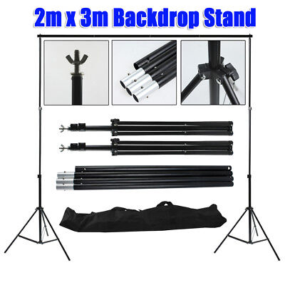 Photography Studio 2x3M Heavy Duty Backdrop Background Adjust Support Stand Kit