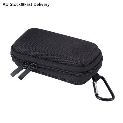 AGPTEK MP3 Player Case Clamshell Headphone Cover with Metal Carabiner Clip Black