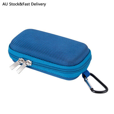 AGPTEK MP3 Player Case Clamshell Headphones Cover with Metal Carabiner Clip Blue
