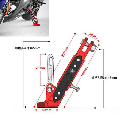 1Pcs Cool Motorcycle Aluminum Alloy Adjustable Side Tripod Holder Fall Protect
