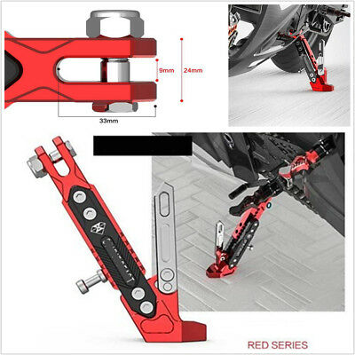 High Quality Motorcycle Alloy Adjustable Side Stand Tripod Holder Fall Protect