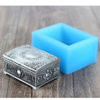 DIY Chocolate Resin Craft Clay Mould Jewelry Box Silicone Molds Soap Making