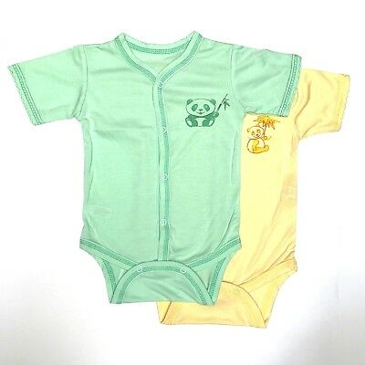 *NEW* BABY GIRL BOY SUMMER BODYSUITS SHORT SLEEVE 0-3 Months 100% BAMBOO