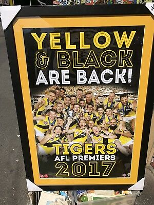 Awesome Large 2017 Richmond Tigers Afl Premiers Matted And Framed Print