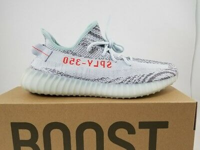 brand new 58f4d 7471d Adidas Yeezy Boost 350 V2 Blue Tint Grey Red B37571 100% AUTHENTIC-SIZE 12