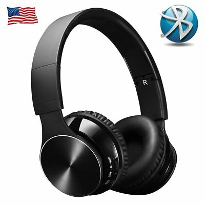 Bluetooth Wireless Headset with Mic and Wired Mode Foldable Over Ear Headphones