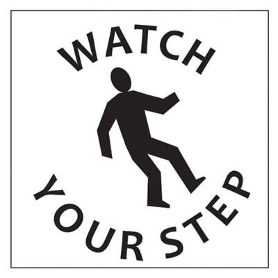 "Dy-Mark ""WATCH YOUR STEP"" SAFETY STENCIL 445x445mm *Australian Brand"